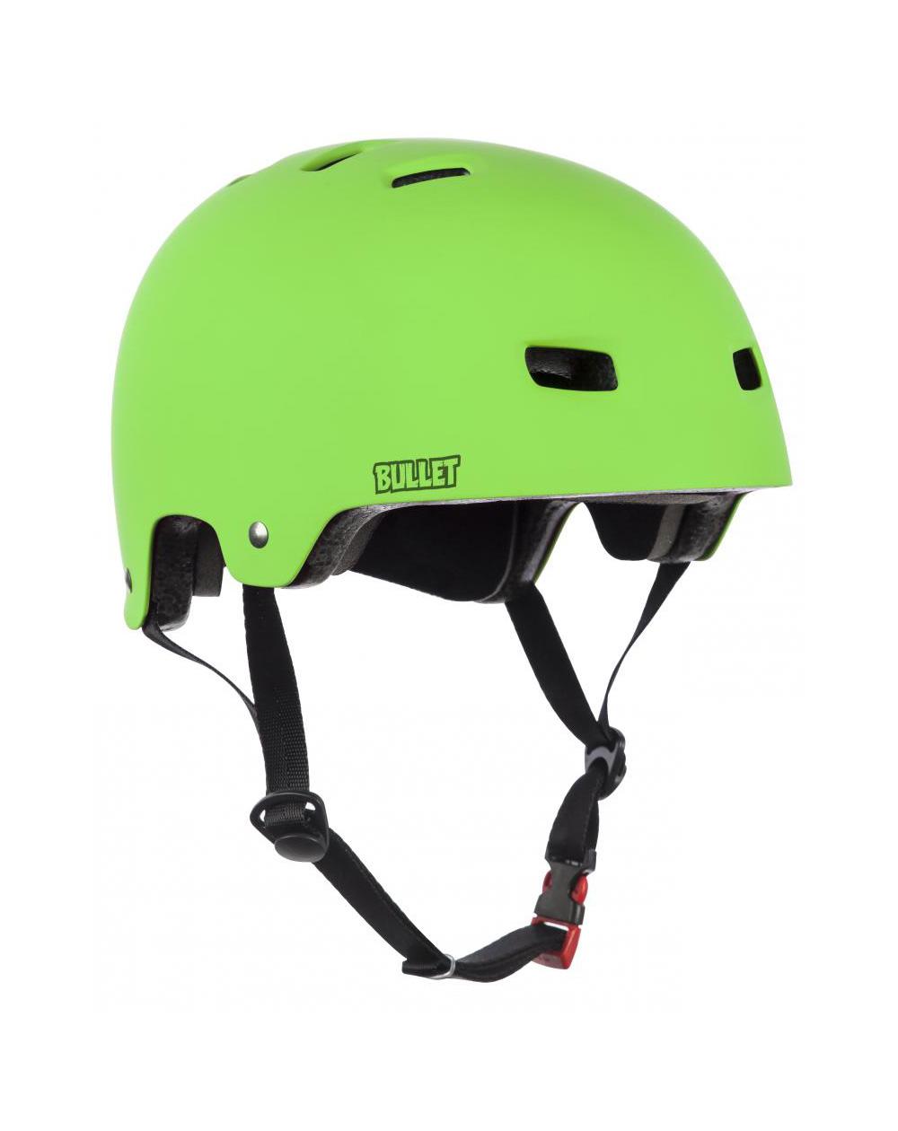 Bullet Deluxe Junior Skateboard Helmet Matt Green