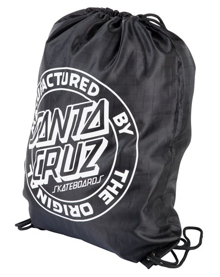 Santa Cruz Kitman Drawstring Bag Black