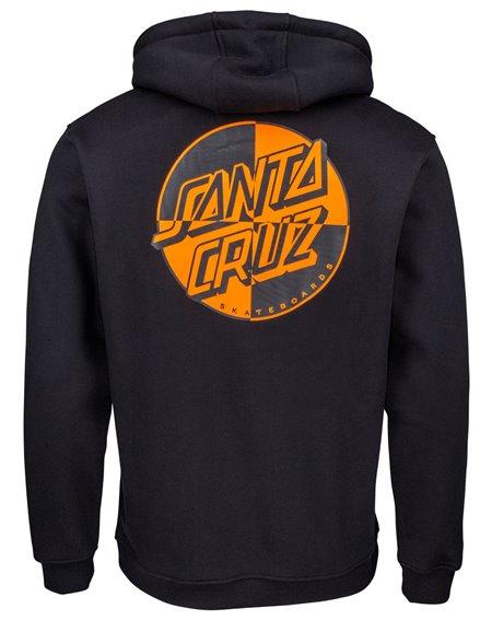 Santa Cruz Crash Dot Felpa con Cappuccio Uomo Black