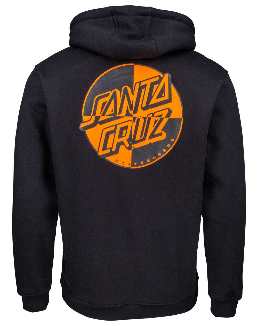 Santa Cruz Men's Hoodie Crash Dot Black