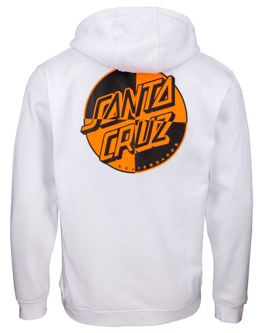 Santa Cruz Herren Kapuzenpullover Crash Dot White