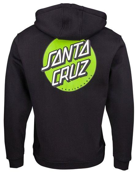 Santa Cruz Other Dot Felpa con Cappuccio Uomo Black