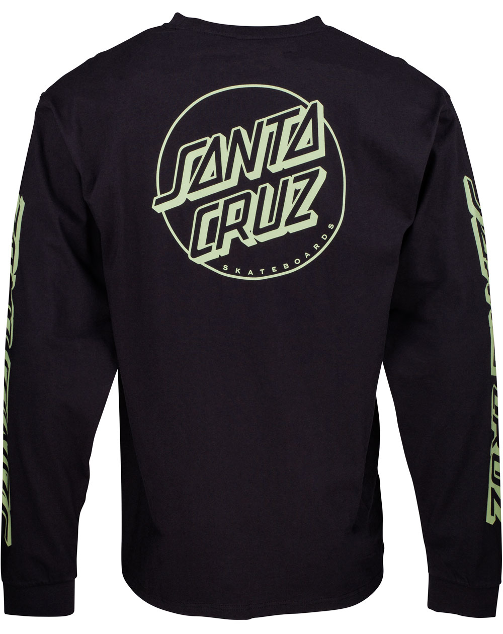 Santa Cruz Opus Dot Stripes T-Shirt à Manches Longues Homme Black