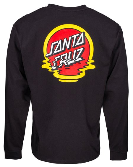 Santa Cruz Men's Long Sleeve Top Reflection Dot Black