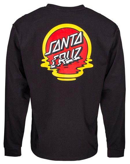 Santa Cruz Reflection Dot T-Shirt à Manches Longues Homme Black