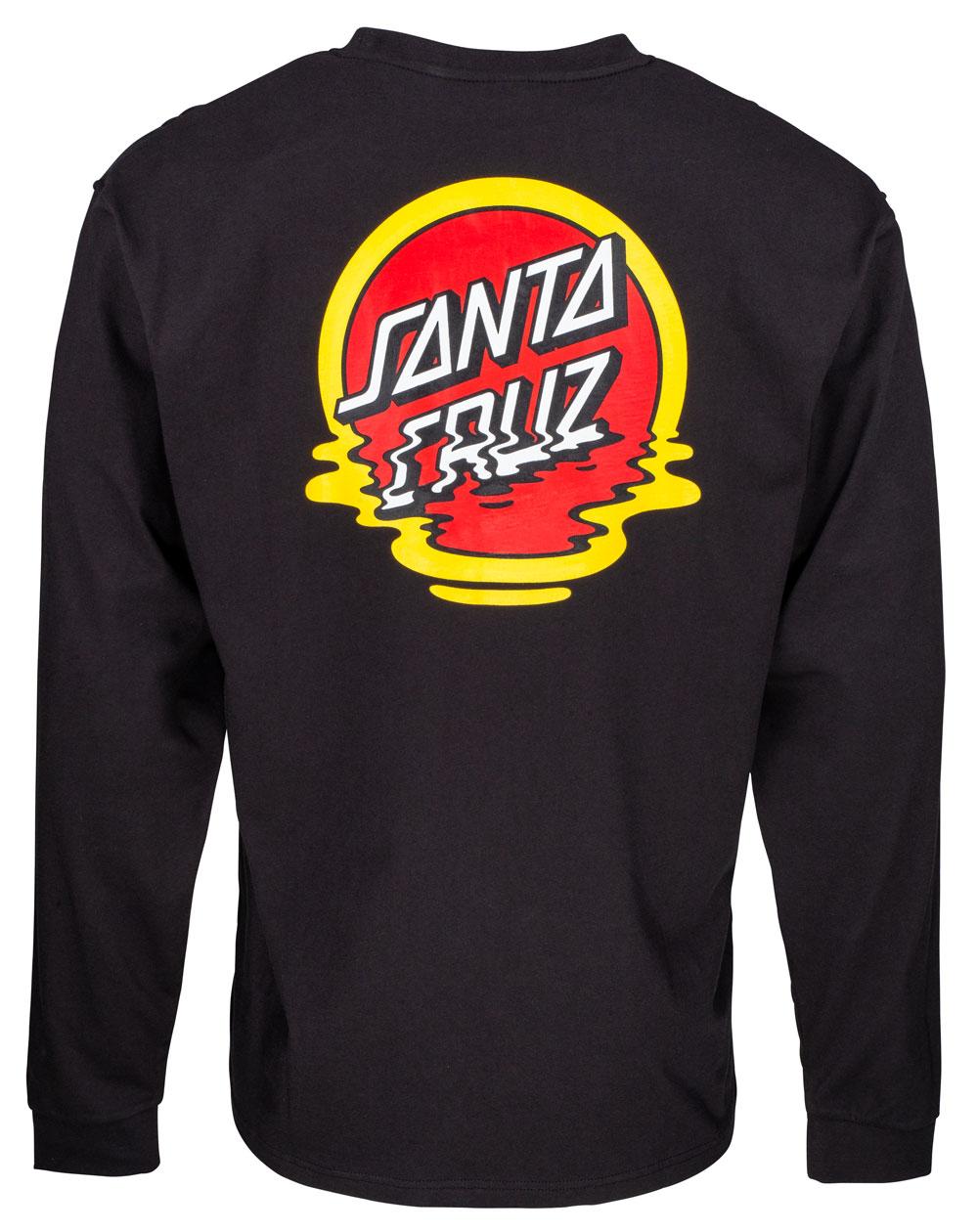 Santa Cruz Herren Langarmshirts Reflection Dot Black