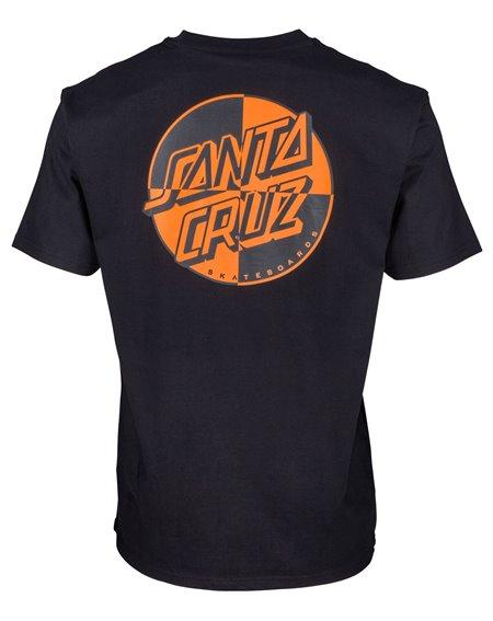 Santa Cruz Crash Dot T-Shirt Homme Black