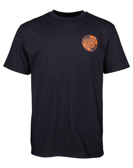 Santa Cruz Crash Dot T-Shirt Uomo Black