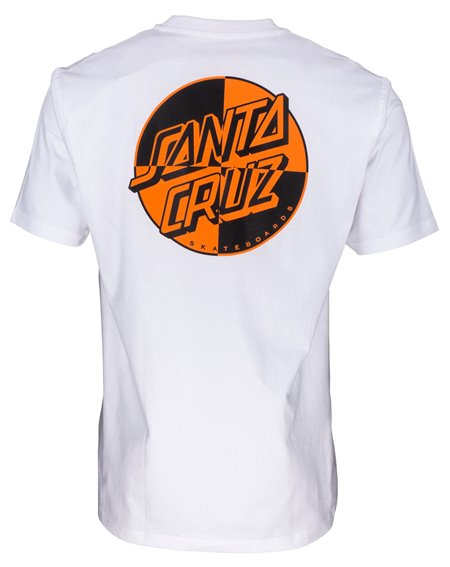 Santa Cruz Men's T-Shirt Crash Dot White