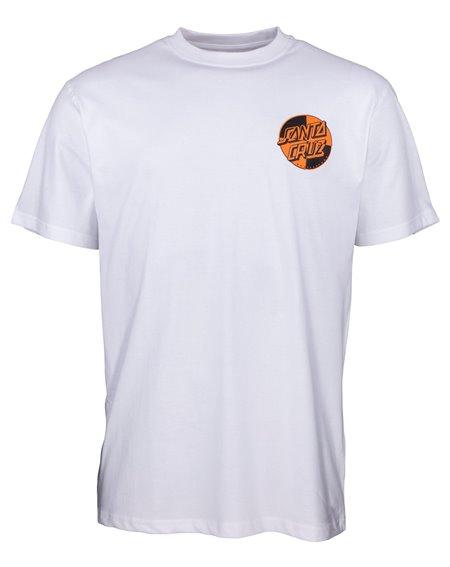 Santa Cruz Men's T-Shirt Crash Dot White