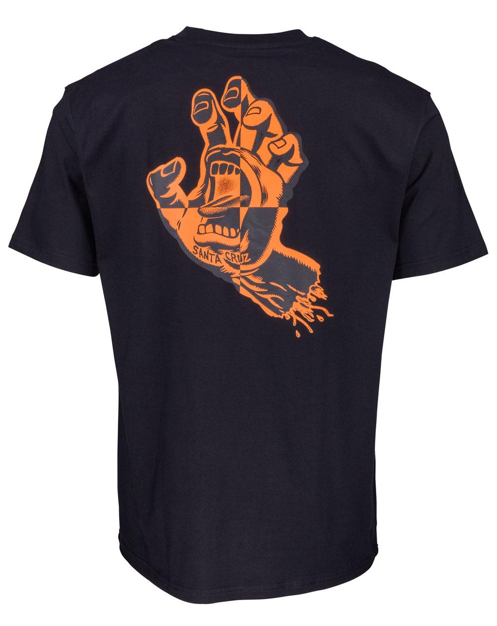 Santa Cruz Men's T-Shirt Crash Hand Black