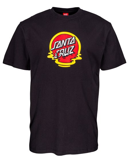 Santa Cruz Dot Reflection T-Shirt Uomo Black