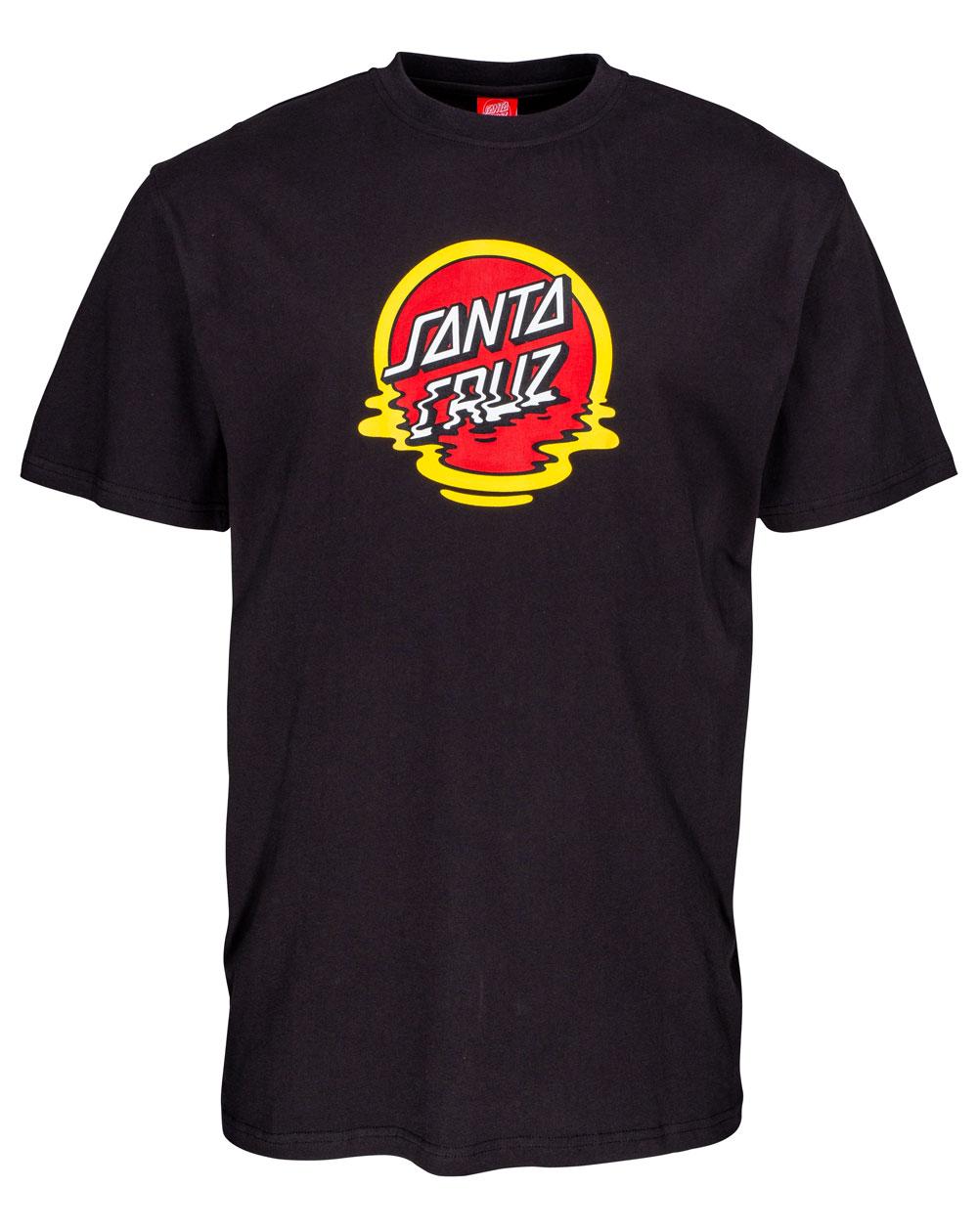 Santa Cruz Dot Reflection T-Shirt Uomo Black
