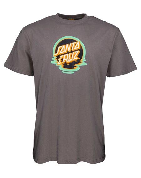 Santa Cruz Dot Reflection Camiseta para Homem Steel