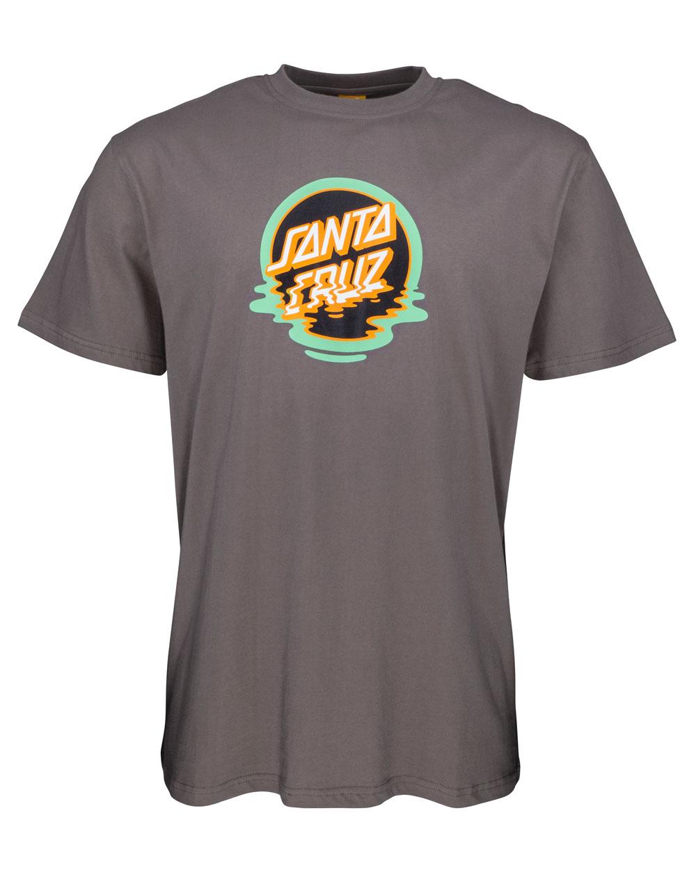Santa Cruz Dot Reflection T-Shirt Homme Steel