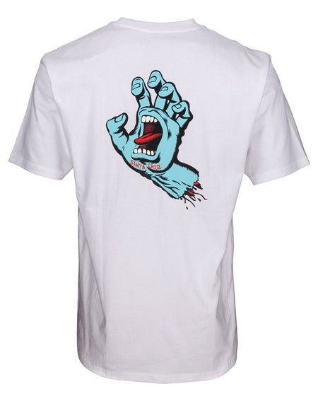 Santa Cruz Men's T-Shirt F.S.U. Hand White