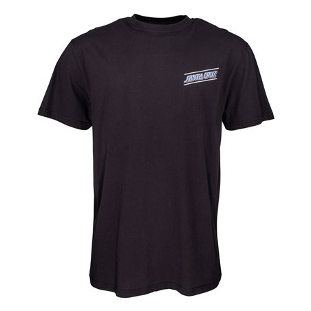 Santa Cruz Men's T-Shirt Multi Strip Black